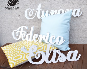 Personalized name wooden Shabby Chic