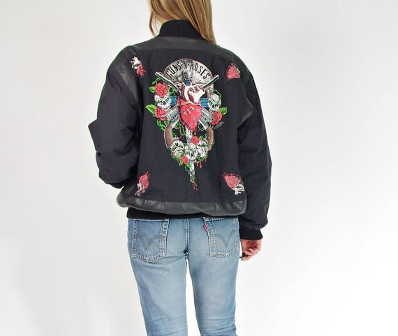 1990 Guns N Roses under license to Brockum Zip It London bomber jacket / size M
