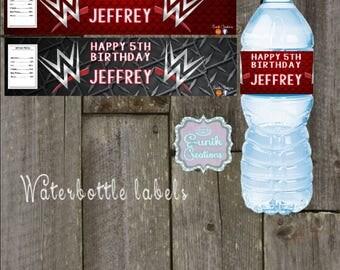 WWE water Bottle Labels
