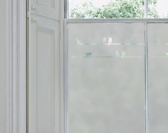 Frosted Window Film, Birds on a Branch, Bathroom Windows, Vinyl for Windows, Decals, Window Film