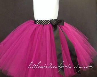 Fuchsia Long Tutu, Fuchsia Tutu Skirt, Dark Pink Tutu Skirt, Flower Girl Tutu, Fuchsia Flower Girl Tutu, Long Tutu Skirt, Girls Fuchsia Tutu