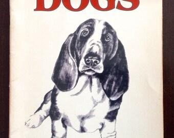 vintage Book How to Draw DOgs (1982) Dachshund, Golden Retriever, Poodle, Schnauzer, Scottish Terrier, etc..