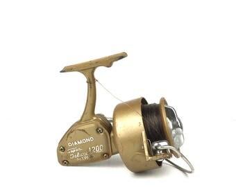 Vintage Diamond Super Deluxe 1200 Spinnig Reel Vintage Japan Made Fishing Reel Old Fishing Reel Spinning Reel