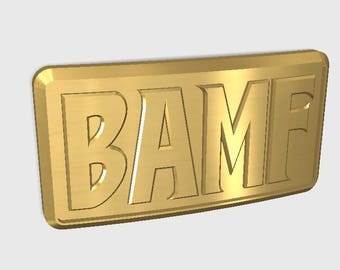 "Overwatch Mccree Belt ""BAMF"" Buckle  (Digital File)"