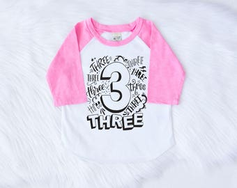 Girls 3rd Birthday Outfit Third Birthday Outfit Girl Girls Third Birthday Third Birthday Shirt Im Three Shirt Three Girl Birthday Shirt