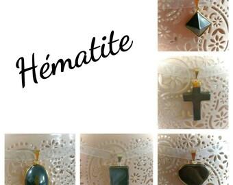 Hematite lucky charm pendant necklace