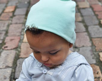 Mint Green Slouchy Baby Beanie