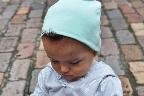 Mint Green Slouchy Baby Beanie - Green Baby Boy Beanie - Green Baby Girl Beanie - Green Baby Boy Hat - Green Baby Girl Hat - Baby Beanie