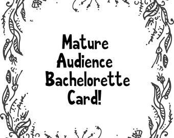 Bachelorette Party Card- Elegant Penis Shaped Card