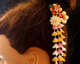 kanzashi-kanzashi flower-geisha-Janpanese kanzashi, kanzashi flower, kanzashi hair stick
