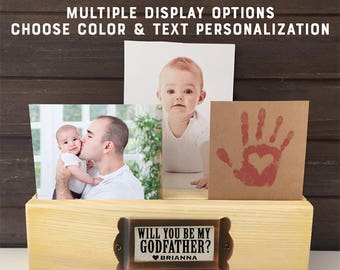 Asking Godfather gift Will you be my Godfather, Will you be my Godparent Frame, Godfather proposal gift, Godparent Proposal photo holder