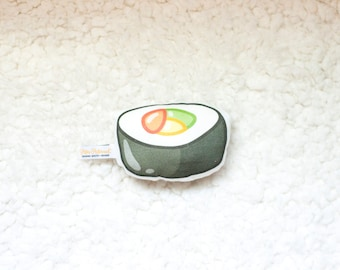 Organic Sushi Rattle / Pillow - Baby Toy / Baby Gift / Teething Toy / Plushie / Stuffed Animal / Organic Baby Toy
