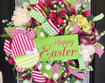 Easter Wreath, Easter Door Hanger, Easter Decoration, Spring Wreaths, Front door Wreath, Wreath for door, Whimsical Easter Decor