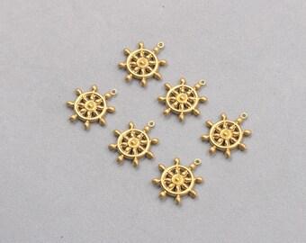 20Pcs, 20mm Raw Brass Pendants Charms ZR-7684