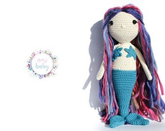 Mermaid doll, mermaid gift for girls, mermaid nursery decor, mermaid toy, crochet mermaid doll,plush mermaid, amigurumi doll,mermaid fantasy