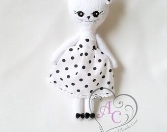 Cat doll, plush cat, cat doll, minky doll, plush doll, plush cat, doll dress up