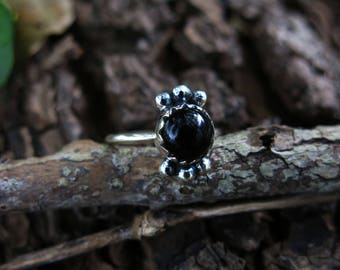 Size 7 Onyx Sterling Silver Ring
