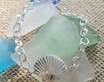 statement designer shell bracelet 925 sterling silver 925