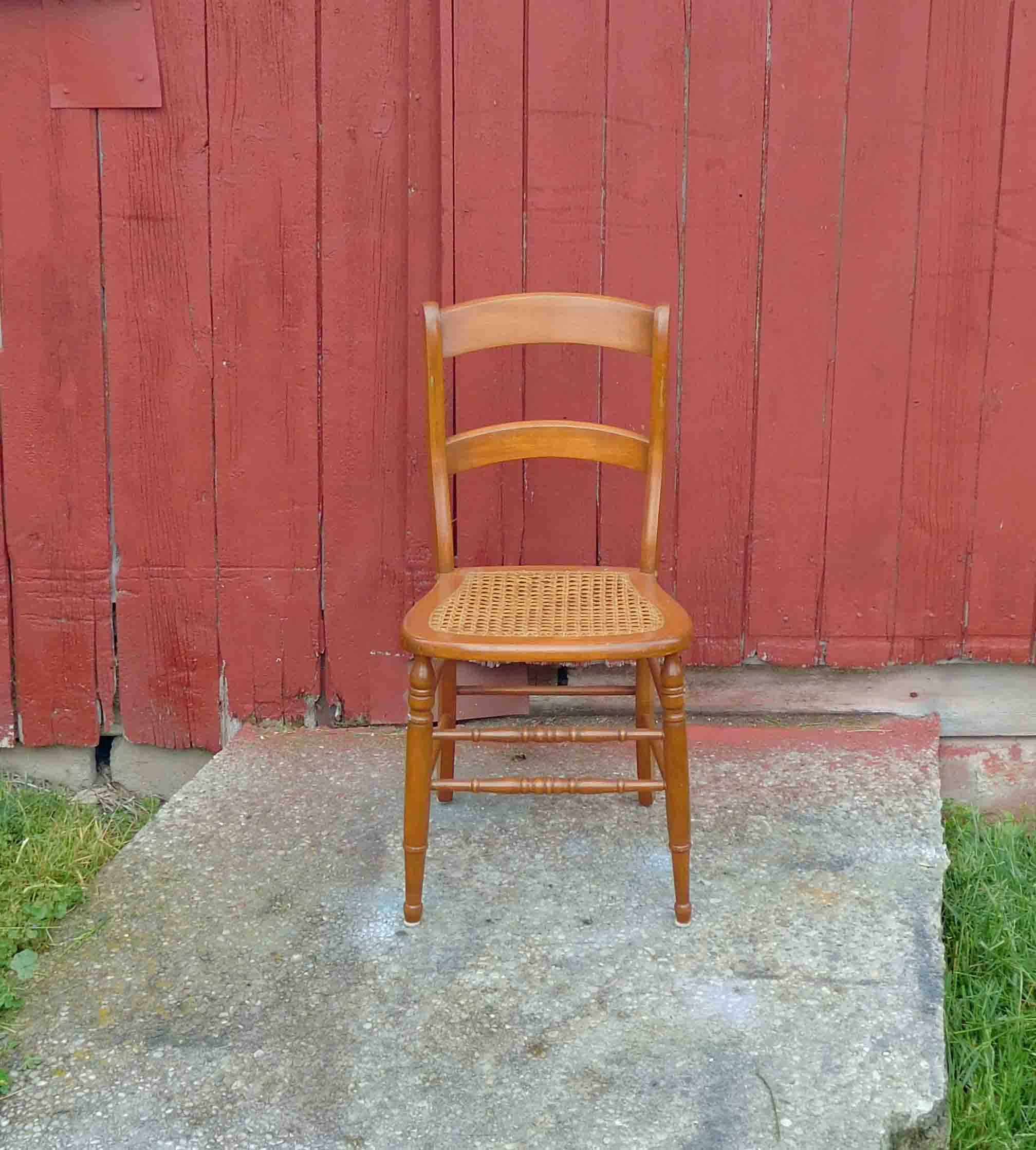 Vintage Wooden Kitchen Chairs: Antique Wood Chair Cane ChairDining ChairAccent