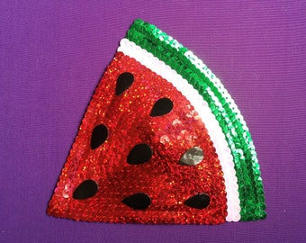 Watermelon Slice Fascinator. Clip or Headband.