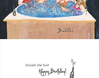 Bubbles Note Cards set of 3