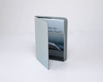 Slip Cover for Jehovah's Witnesses Small Books - Bible Teach Book Cover - NWT Bible Gray with Pebble Texture