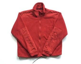 90s Timberland Weathergear full zip polyester nylon fleece sweater size medium