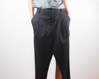 Black skirt/ modern skirt/ midi skirt