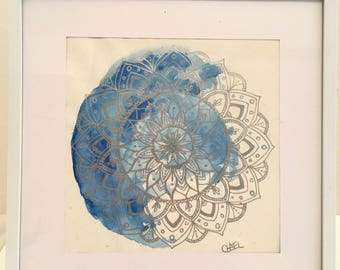Blue & Silver Mandala