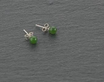 Jade Stud Earrings