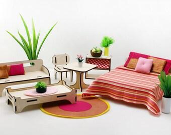 Starbeam Furniture Set - Miniature Modern Decor, 1:12 scale