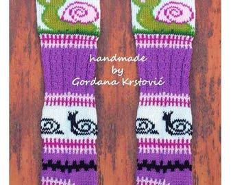 Snail,Hand knit knee socks,leg warmers,knitted socks,snail leggins,Over-the-Knee Socks,Knit Knee High Socks,wool socks,PLUS SIZES,large size