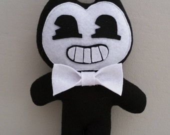 "Ready to ship * Handmade pocket Bendy plush (unofficial)from ""Bendy and the ink machine"" horror game, plush,bendy cute plushie,kawaii bendy"