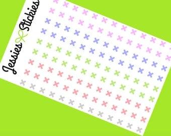 X mark Pastel Planner Stickers