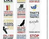 Billy Madison Quote Full Box Planner Stickers for Erin Condren Planner, Filofax, Plum Paper