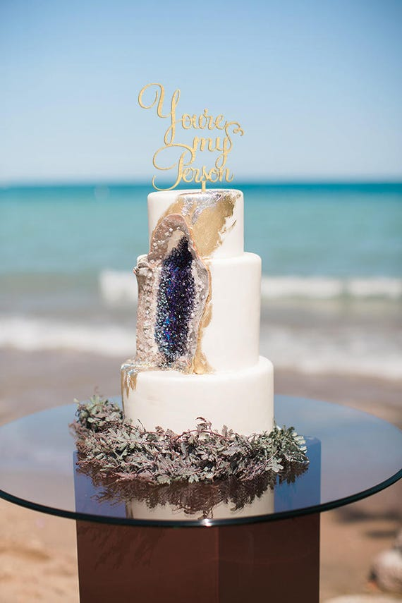 You're My Person, Wedding Cake Topper, Rose Gold Wedding, Gold Wedding Cake Topper, Grey's Anatomy Cake Topper, Rose Gold Decor