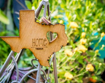 My State, Heart, & Home. 50 States! Show your love for your Home that stole your heart with these Ornaments, Keychains, or many other uses!