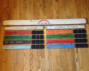 Custom Fantasy Baseball Football Hockey Sports League Win Loss Record Standings Board