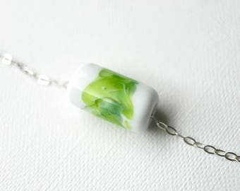 The Watercolour Collection- handmade glass bead on sterling silver necklace