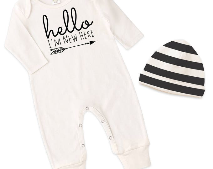 Newborn Baby Coming Home Outfit, Neutral Baby Clothes, Baby Unisex Coming Home Outfit Baby Girl Romper, Baby Boy Romper Tesababe RC81IY63IBS