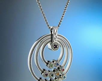 Great Grandmother Birthstone Necklace, Children Birthstone Necklace, Family Jewelry, Mother Ring, Custom Made