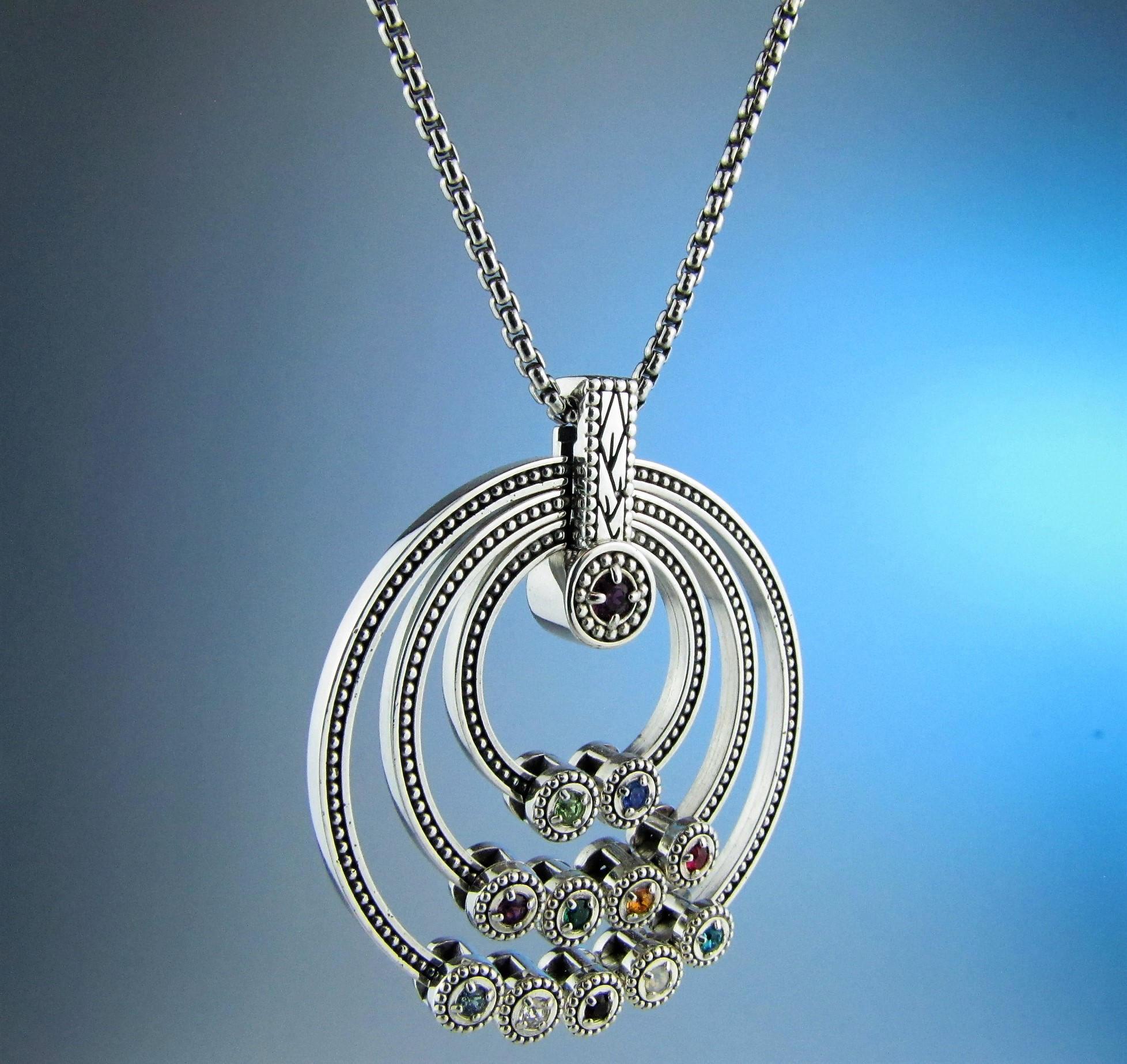 Great grandmother birthstone necklace children birthstone for Grandmother jewelry you can add to