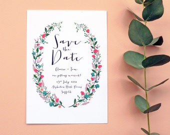 Beautiful Blooms Save The Date | Floral Save the Date | Sample