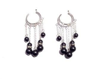 Earrings, Sterling silver earrings, dangle earrings, hoop earrings, pearl earrings, long earrings, cluster earrings, silver earrings
