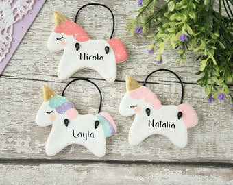 Personalised Unicorn ornament, Party favors,Gift for girl, Nursery decor, New baby gift,Birthday party favors,Baby shower,Personalized gifts
