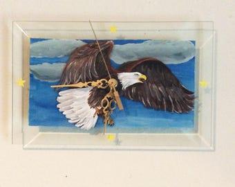 Wall Clock, Eagle Clock, Home Decor, Bald Eagle clock, Eagle lover gift, Eagle Lover, Eagle Decor, Gift for him, Christmas Gift, gifts,
