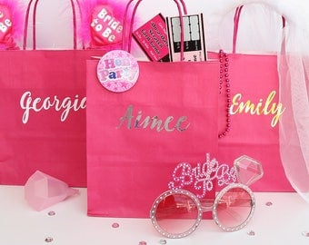 Hen Party Gift Bag | Personalised Hen Do Survival Kit | Team Bride Bags | Hen Party Favour Bag | Hen Night Bags Gift Bags Favours