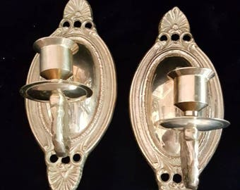 Candlestick Wall Sconces ~ Solid Brass