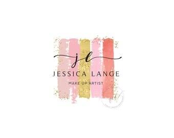 Logo Design, Make up Logo, Premade Logo, brush strokes logo, Photography Logo, Premade Logo, Watercolor Logo Design