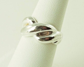 Size 7 Sterling Silver Weave Ring